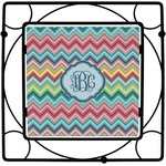 Retro Chevron Monogram Trivet (Personalized)