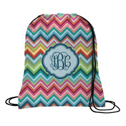 Retro Chevron Monogram Drawstring Backpack (Personalized)