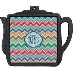 Retro Chevron Monogram Teapot Trivet (Personalized)