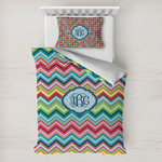 Retro Chevron Monogram Toddler Bedding