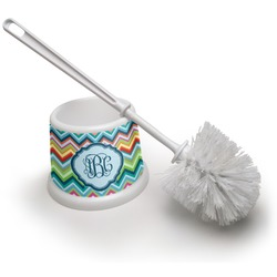 Retro Chevron Monogram Toilet Brush (Personalized)