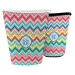Retro Chevron Monogram Waste Basket (Personalized)