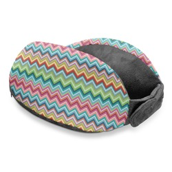 Retro Chevron Monogram Travel Neck Pillow
