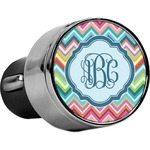 Retro Chevron Monogram USB Car Charger (Personalized)