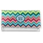 Retro Chevron Monogram Vinyl Checkbook Cover (Personalized)