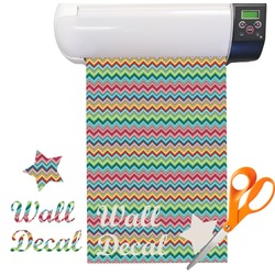 Retro Chevron Patten Vinyl Sheet (Re-position-able)