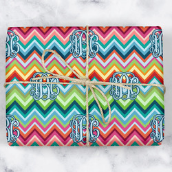 Retro Chevron Monogram Wrapping Paper