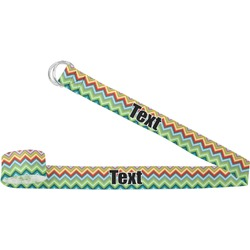Retro Chevron Monogram Yoga Strap (Personalized)