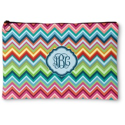 Retro Chevron Monogram Zipper Pouch (Personalized)