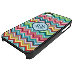 Retro Chevron Monogram Plastic 4/4S iPhone Case (Personalized)