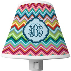 Retro Chevron Monogram Shade Night Light (Personalized)