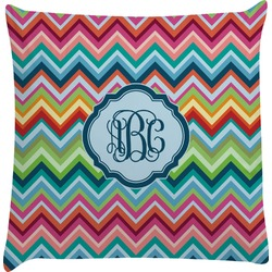 Retro Chevron Monogram Decorative Pillow Case (Personalized)