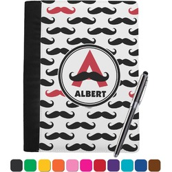 Mustache Print Notebook Padfolio (Personalized)