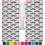 Mustache Print Sheer Curtains (Personalized)