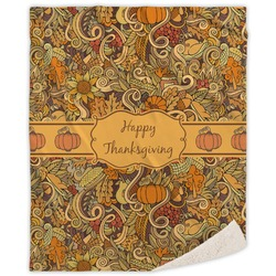 Thanksgiving Sherpa Throw Blanket (Personalized)