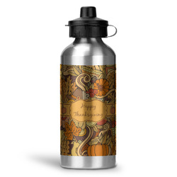 Thanksgiving Water Bottle - Aluminum - 20 oz (Personalized)