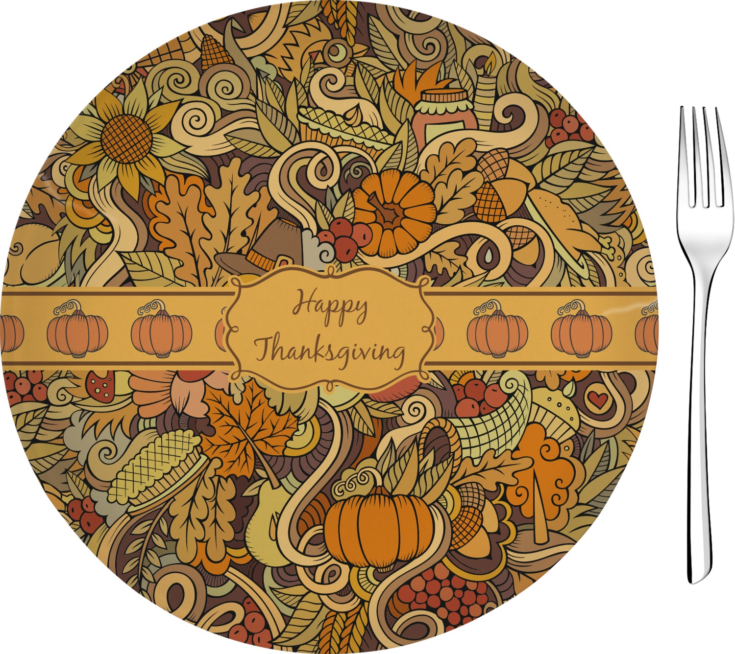 Thanksgiving Appetizer Dessert Plate 8 Personalized