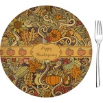 """Thanksgiving Glass Appetizer / Dessert Plates 8"""" - Single or Set (Personalized)"""