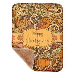 """Thanksgiving Sherpa Baby Blanket 30"""" x 40"""" (Personalized)"""