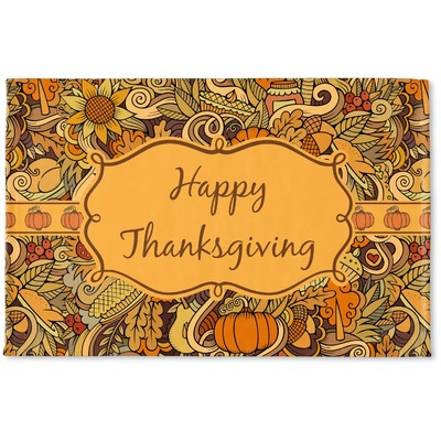 Thanksgiving Woven Mat (Personalized)