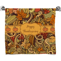 Thanksgiving Full Print Bath Towel (Personalized)