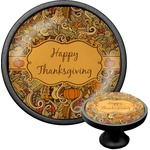 Thanksgiving Cabinet Knob (Black) (Personalized)