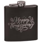 Thanksgiving Black Flask Set (Personalized)
