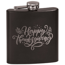 Thanksgiving Black Flask (Personalized)