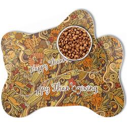 Thanksgiving Bone Shaped Dog Food Mat (Personalized)