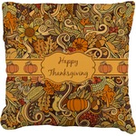 Thanksgiving Faux-Linen Throw Pillow (Personalized)