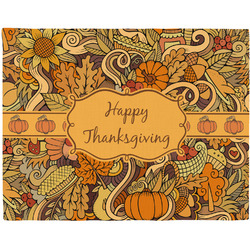 Thanksgiving Woven Fabric Placemat - Twill