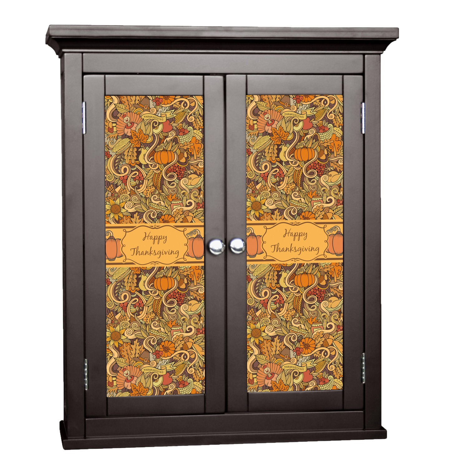Thanksgiving cabinet decal custom size personalized for Kitchen cabinets lowes with how to make decal stickers