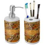 Thanksgiving Ceramic Bathroom Accessories Set