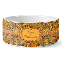 Thanksgiving Ceramic Pet Bowl (Personalized)