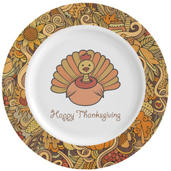 Thanksgiving Ceramic Dinner Plates (Set of 4) (Personalized)