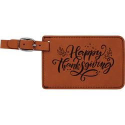 Thanksgiving Leatherette Luggage Tag (Personalized)