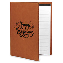 Thanksgiving Leatherette Portfolio with Notepad (Personalized)