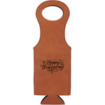 Thanksgiving Leatherette Wine Tote (Personalized)