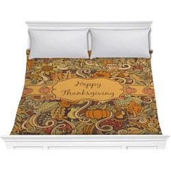 Thanksgiving Comforter - King (Personalized)
