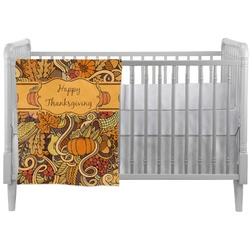 Thanksgiving Crib Comforter / Quilt (Personalized)