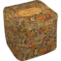 Thanksgiving Cube Pouf Ottoman (Personalized)