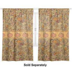 "Thanksgiving Curtains - 40""x84"" Panels - Unlined (2 Panels Per Set) (Personalized)"