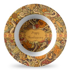 Thanksgiving Plastic Bowl - Microwave Safe - Composite Polymer (Personalized)