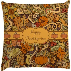 Thanksgiving Decorative Pillow Case (Personalized)