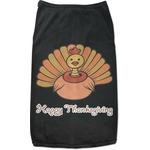 Thanksgiving Black Pet Shirt (Personalized)