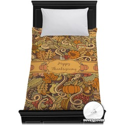 Thanksgiving Duvet Cover - Twin (Personalized)