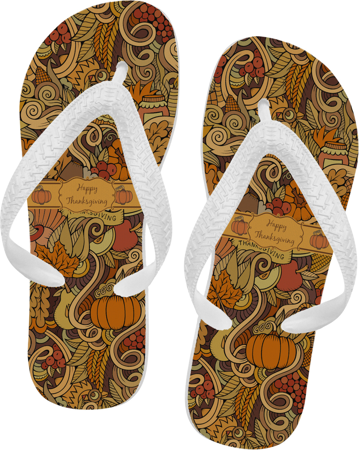 92a9f02a7c02 Thanksgiving Flip Flops (Personalized) - YouCustomizeIt