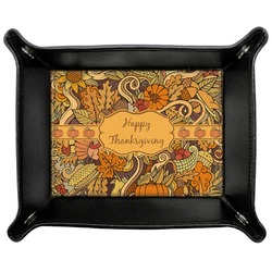 Thanksgiving Genuine Leather Valet Tray (Personalized)