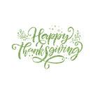 Thanksgiving Glitter Iron On Transfer- Custom Sized (Personalized)