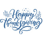 Thanksgiving Glitter Sticker Decal - Custom Sized (Personalized)